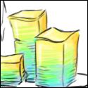 """Petite illustration sans prétention sur le thème du post-it, détourné dans l'univers de la cuisine. Dans le cadre de mon boulot, on utilise beaucoup les méthodes """"agiles"""" et l'un des outils qui va souvent de pair : les fameux post-it ! Chaque post-it représente une demande client à traiter... Dans cette illustration, on retrouve les post-it, bien rangés en petites piles. C'est notre chef qui, chaque lundi, nous propose un assortiment de demandes à traiter dans la semaine. La couleur de post-it la plus classique est le jaune mais on utilise aussi parfois du vert ou du bleu clair ou foncé pour différencier le temps qui sera nécessaire au traitement de la demande et visualiser ainsi d'un coup d'œil la charge globale de chacun. Nous avons souvent la possibilité de choisir comment nous répartir les demandes et dans quel ordre les traiter même si certaines demandes sont forcément prioritaires... Bref, un peu comme au restaurant !  ... """"aujourd'hui, au menu, le chef vous propose..."""" ^^"""